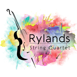 Rylands String Quartet Live Music colourful logo