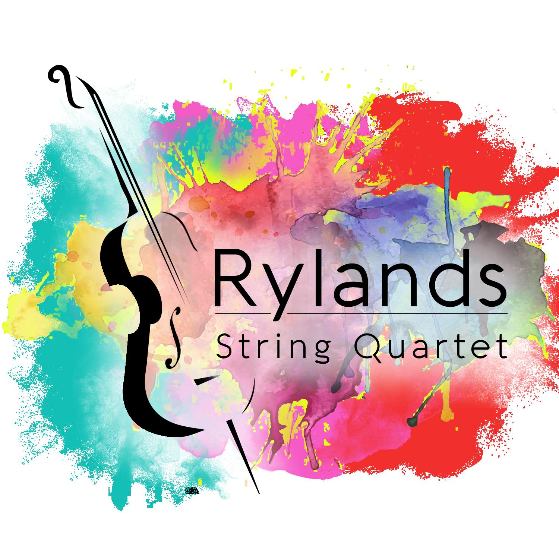 Rylands String Quartet Live Music colourful logo